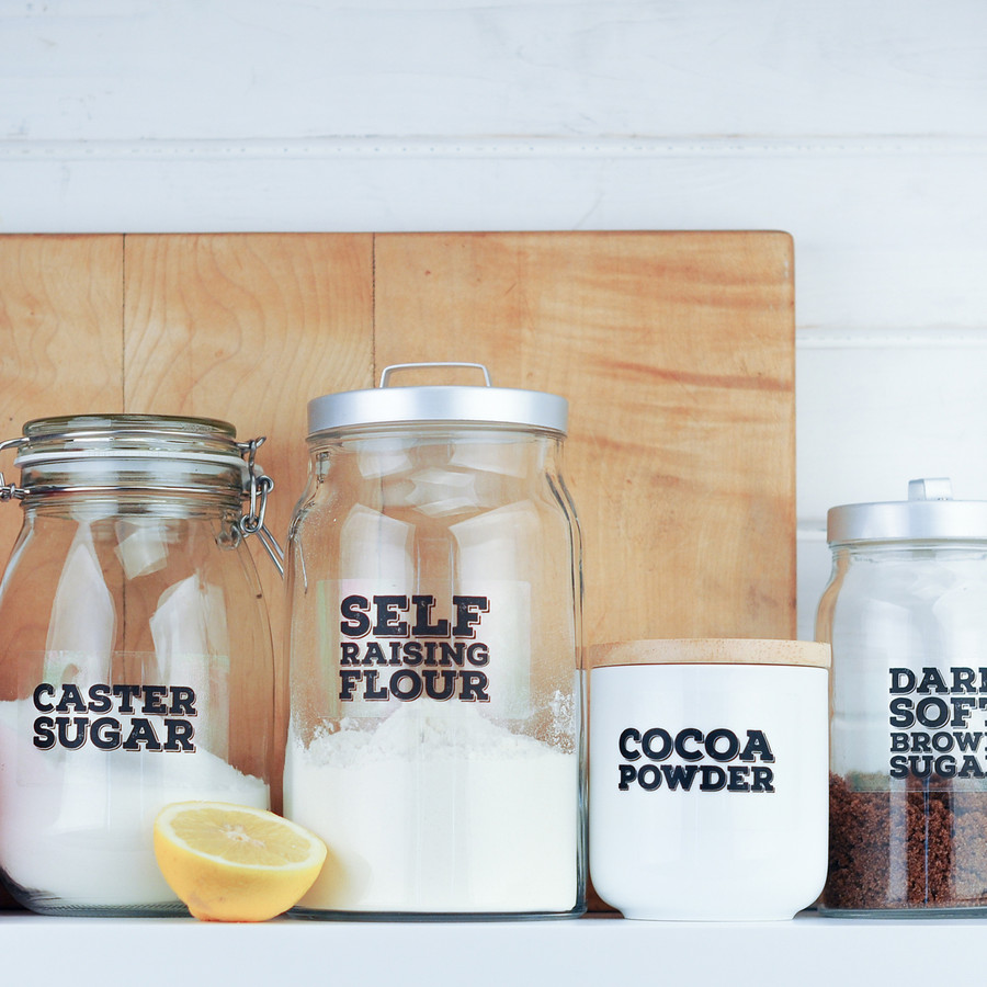 'Really Useful' Pantry Labels: Baking Set