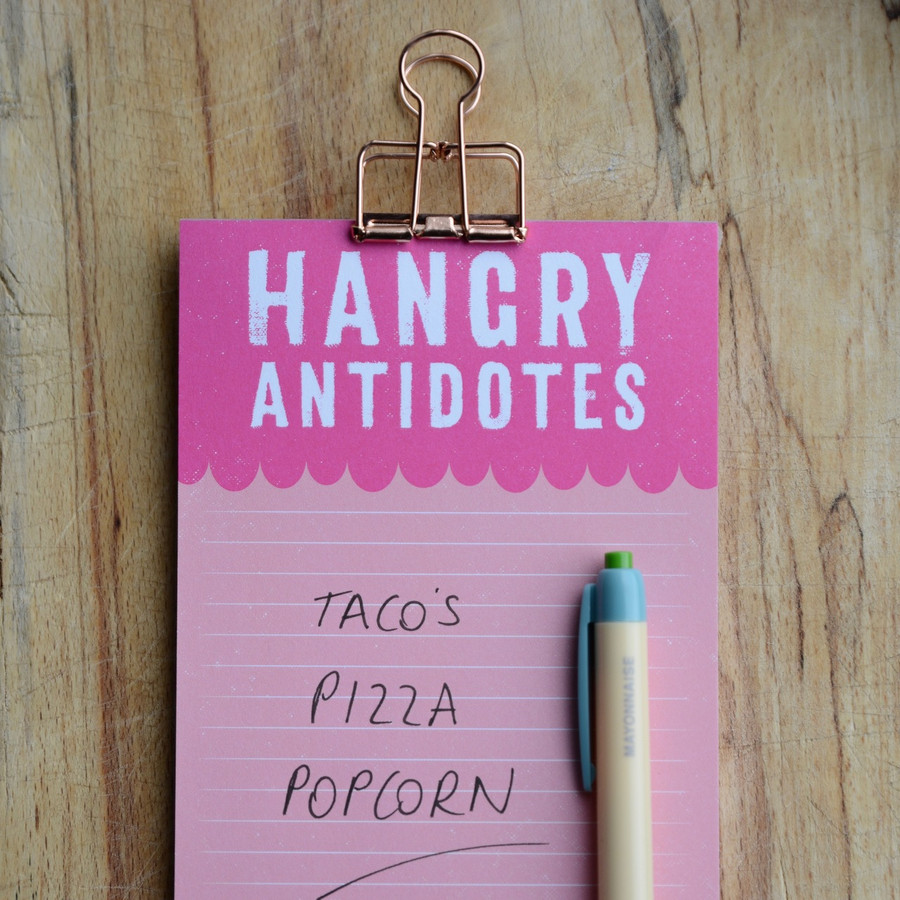Hangry Antidotes Magnetic Shopping List Pad