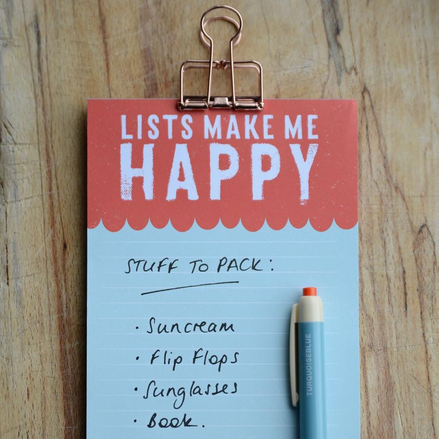 Lists Make Me Happy List Pad