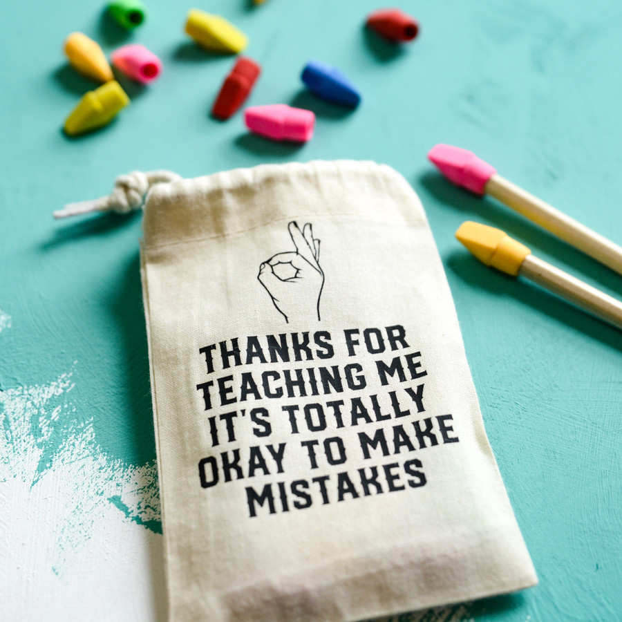Personalised It's Okay To Make Mistakes Teacher Gift