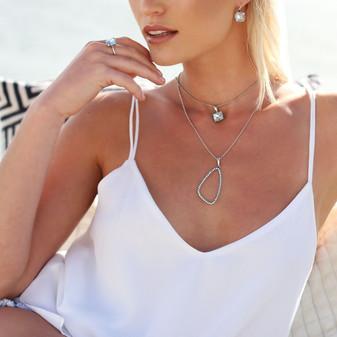 Catalina Drop Earrings - E4222 - R799 Caprice Light Azure Pendant - EN1876 - R499 Light Azure Cushion-Cut Stackable Ring in Sterling Silver 925 - RR388 - R1399 Mermaid Tale Aquamarine Pendant - EN1881 - R699