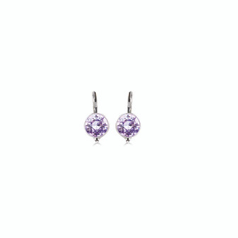 Petite Lavender Drop Earrings (E4685)