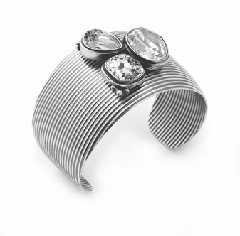 Bold Burnished Silver Bracelet