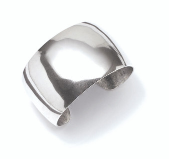 Burnished Silver Cuff Bracelet