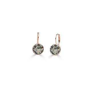 18ct rose gold-plated Black Diamond Petite Glam Rock Earrings