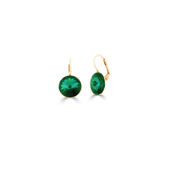 22ct gold-plated Emerald Petite Glam Temptation Earrings