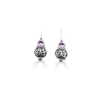 Violet Amour Drop Earrings