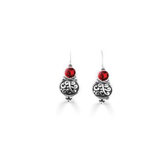 Scarlet Amour Drop Earrings