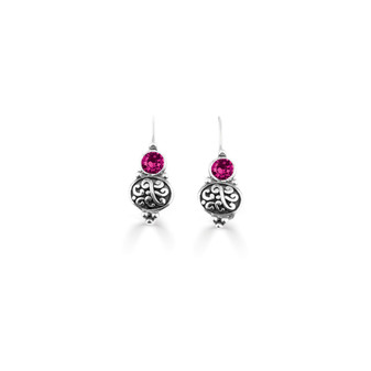 Fuschia Amour Drop Earrings  ( E4744 )