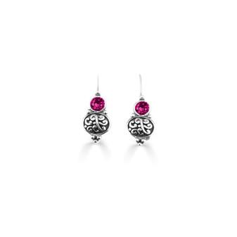 Fuschia Amour Drop Earrings