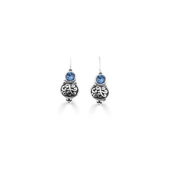 Denim Blue Amour Drop Earrings