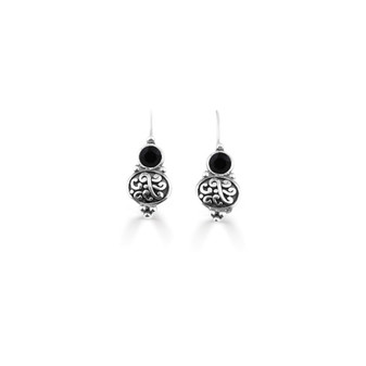 Jet Black Amour Drop Earrings  ( E4748 )