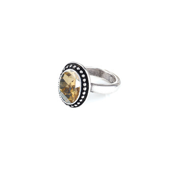 Navaho Oval Golden Shadow  Ring