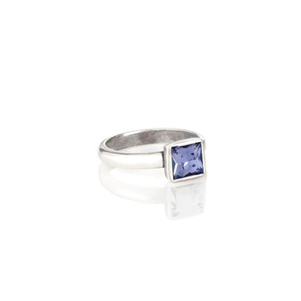 Square Tanzanite  Ring (RR145 K/N/P/R)