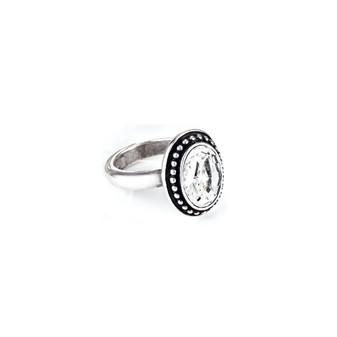 Navaho Oval Crystal Ring (RR81 K/N/P/R)