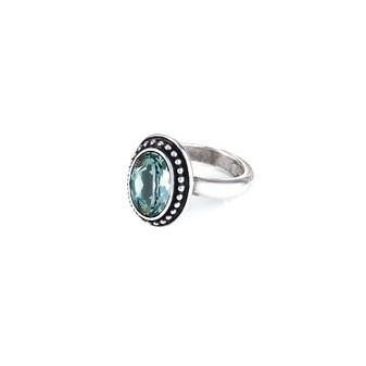Navaho Oval Indian Sapphire Ring