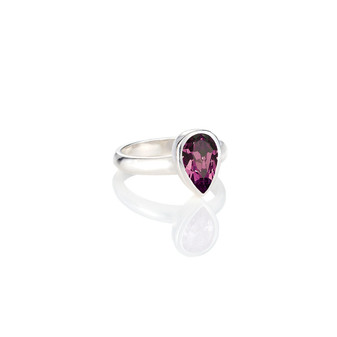 Amethyst Teardrop Ring