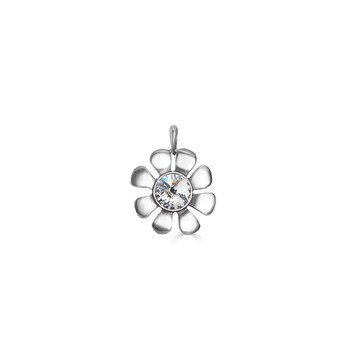Bold Daisy Pendant - Burnished Silver / Flower Pendant / Daisy Jewellery / Swarovski Crystal / Floral Jewellery / Gift Ideas