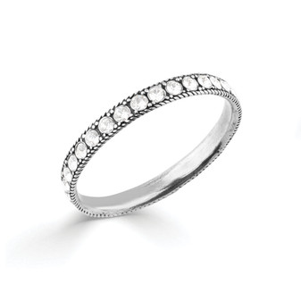 Eternity Bangle  • Miglio burnished silver • Swarovski® crystal • Small 64 mm diameter • Medium 67 mm diameter
