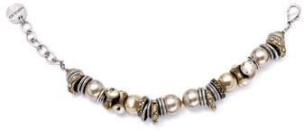 Lustrous champagne pearl bracelet