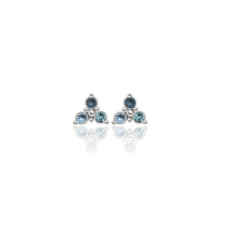 Sky Trilogy Cluster Stud Earrings