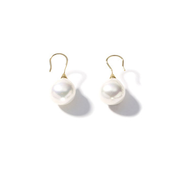 18ct Gold -Plated Pearl Drop Earrings