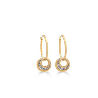 18ct Gold-plated Crystal Hoop Earrings