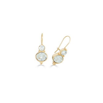 18ct Gold-plated Crystal Drop Earrings