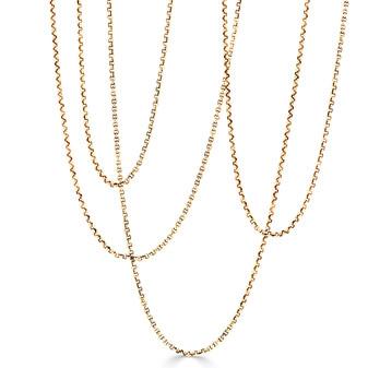 18ct Gold Vermeil Belcher Chain Necklace