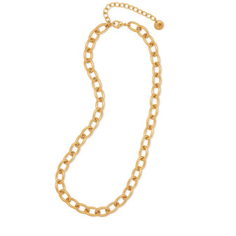 18ct Gold-plated Bold Oval Chain
