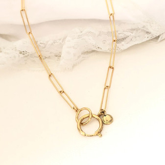 Hello Sunshine Gold Link Necklace
