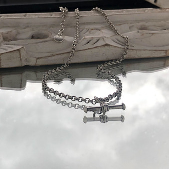 Nautical Rope T-Bar Necklace