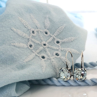 Petite Ocean Light Azure Drop Earrings