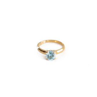 Endless Summer Aquamarine Gold Vermeil Ring