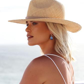 Summer Sparkles Denim Blue Drop Earrings