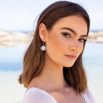 Ocean Splash Sterling Silver Drop Earrings