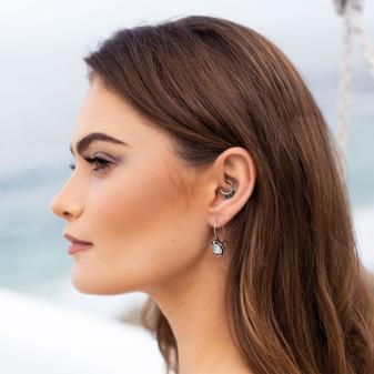 Into The Blue Light Azure Drop Earrings