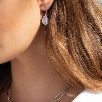 Petite Ocean Dream Sterling Silver Drop Earrings