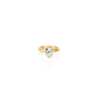 Petite Teardrop Gold Vermeil Sentiments Ring