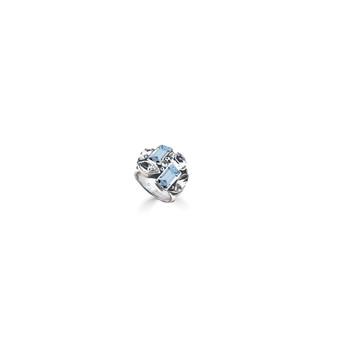 Summer Sparkle Denim Blue Ring