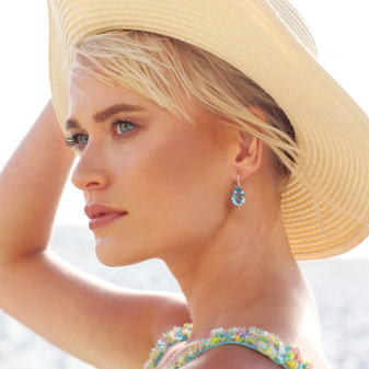Caprice Aquamarine Gold Vermeil Teardrop Earrings - E4918 - R1999 also available in Sterling Silver E4930 - R1799