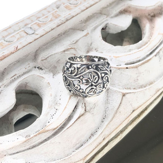 Ani Floral Sterling Silver Ring