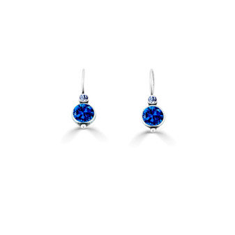 A Pop Of Colour Sapphire Drop Earrings