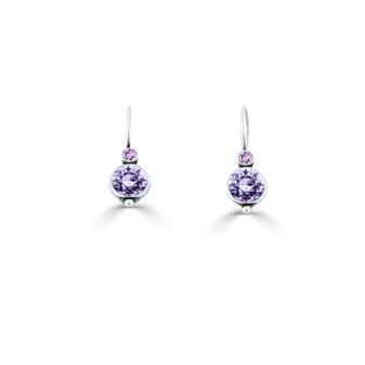 A Pop Of Colour Lavender Drop Earrings