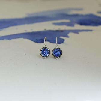 Sapphire Cornflower Blue Drop Earrings