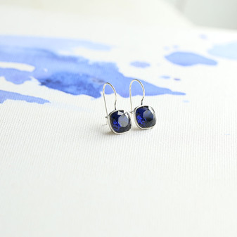 Indigo Sapphire  Drop Earrings