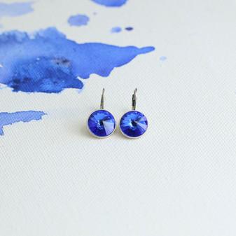 Bold Sapphire Cornflower Blue Drop Earrings