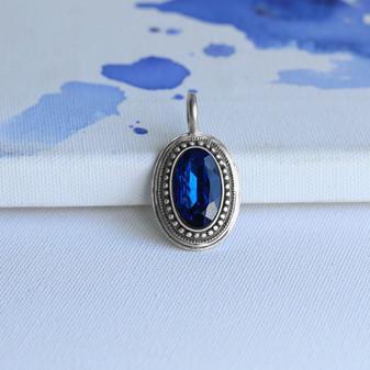 Indigo Sapphire  Oval Enhancer