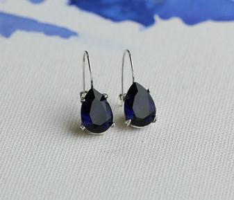 Indigo Sapphire Teardrop Earrings