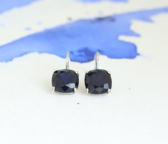 Indigo Sapphire Claw-set Drop Earrings
